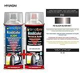 Kit Spray Pintura Coche Aerosol HD SLEEK SILVER MET. - Kit de retoque de pintura carrocería en...