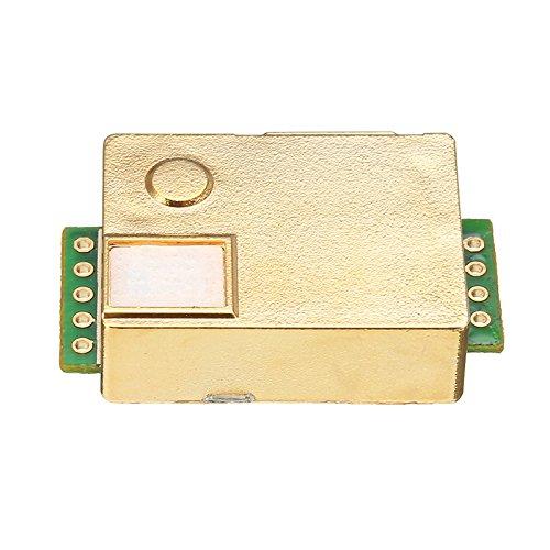 Quickbuying MH-Z19 Infrarot-CO2-Sensor-Modul für Innenraum-Luftqualitätsmonitor, 0-5000 PPM, 33 x 20 x 9 mm, Modulplatten