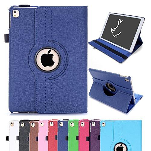 RC iPad Air 2 Case, iPad Air 2 / iPad 6 360 Rotating Smart Case PU Leather Cover Stand for Apple iPad Air 2 Sleep/Wake (Navy)