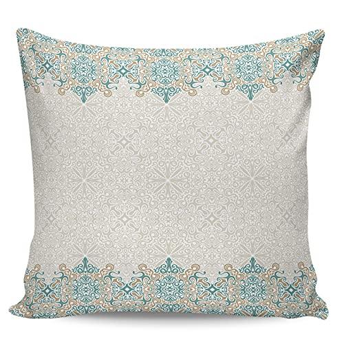 Winter Rangers Fundas de almohada decorativas, diseño retro bohemia floral ultra suave, funda de cojín cuadrada cómoda para sofá dormitorio, 50,8 x 50,8 cm