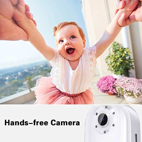 AKASO Keychain Body Action Camera 4K30FPS 20MP with EIS 2.0 and 60min Video Recording Slow Motion Time Lapse Hands-Free Mini Vlogging Camera On-The-Go
