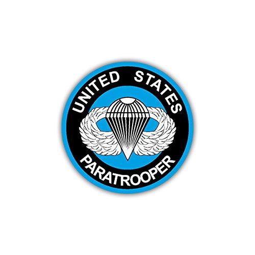 Copytec stickers/sticker -US Paratrooper wapen badge logo parachutejager geschikt voor VW Golf Polo GTI MBW 3 Mercedes Audi Opel 7x7cm #A1113