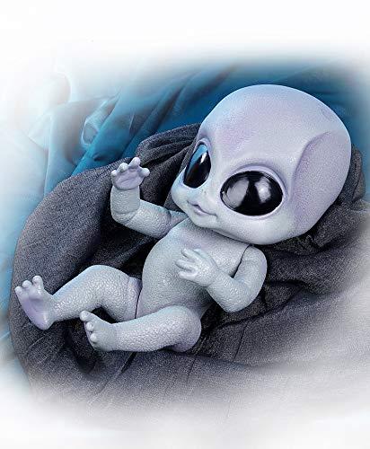 Pinky Reborn Dolls 14 Inch Hecho a Mano Renacer Alien Bebé Muñecos bebé el Cuerpo Completo Vinilo