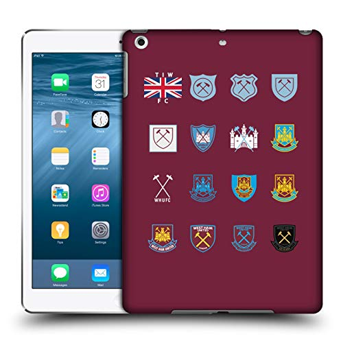 Official West Ham United FC Pattern 3 Crest History Hard Back Case Compatible for Apple iPad Air (2013)