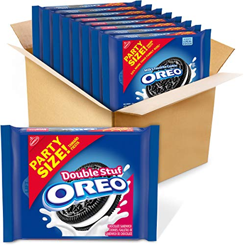 OREO Double Stuf Chocolate Sandwich Cookies, Party Size, 8 - 26.7 oz Packs