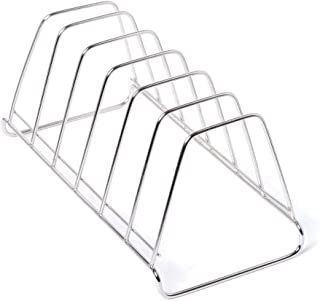 DECORVAIZ Stainless Steel Plate Rack   Dish Rack   Plate Stand   Dish Stand   Pack of 1 (Length 27 cm Height 12 cm Width 1...