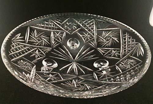 Schüssel aus Bleikristall, mit Standfuß, 30,5 cm Durchmesser