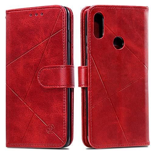 Snow Color Galaxy A70E Hülle, Premium Leder Tasche Flip Wallet Case [Standfunktion] [Kartenfächern] PU-Leder Schutzhülle Brieftasche Handyhülle für Samsung Galaxy A70E - COHH060189 Rot
