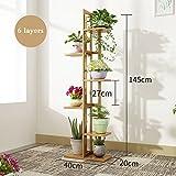 Blumenständer Blumenregal Bambus Multilayer Indoor Balkon Wohnzimmer Pflanzenständer Display Regal