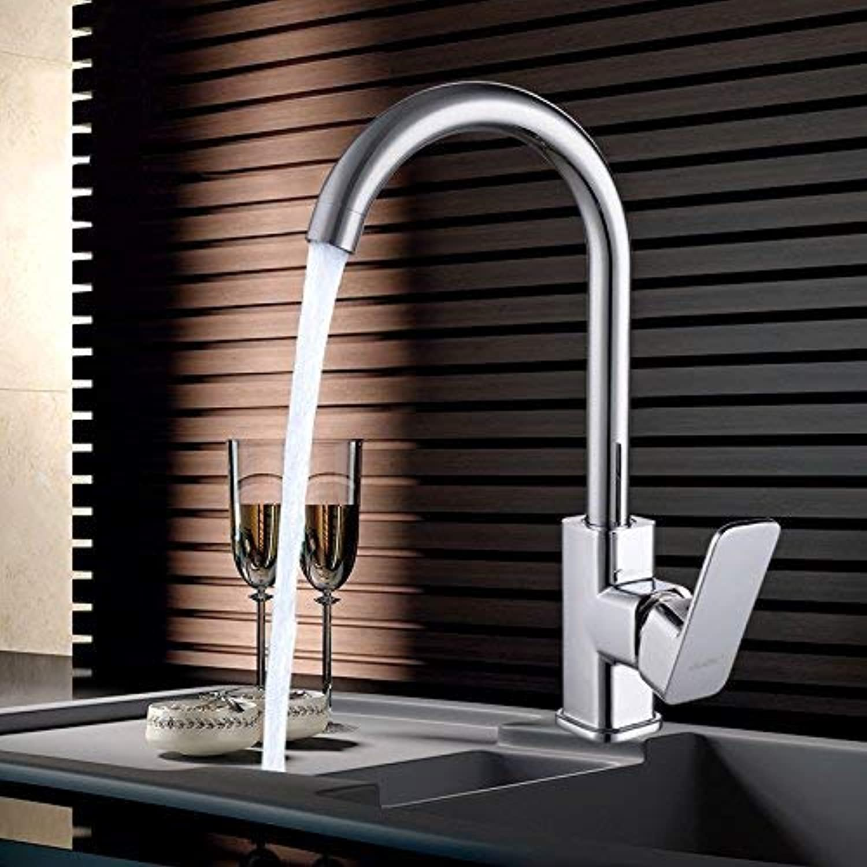Oudan All Copper Universal Kitchen Faucet 360 Degree redation 304 Stainless Steel Vegetables Basin Sink Faucet Splash Cold Ceramic Valve Core (color   -, Size   -)