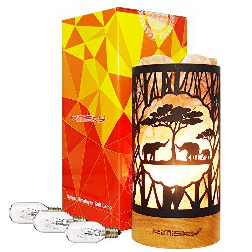 Himalayan Pink Salt Lamp Basket,Elephant Salt Lamp & UL-Certified New Dimmer Switch,3 Bulbs E14 15W