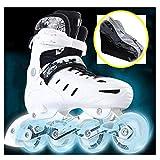 Zapatos de Patinaje de Velocidad, Patines en Línea para Patines de Ruedas de una Hilera para Adultos Deportes para Recreación Física para Hombres y Mujeres Patines de Ruedaswhite-39 to 42