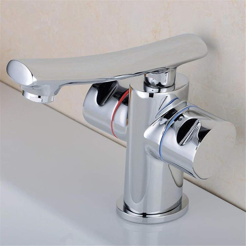 Wasserhahn Küche Waschbecken Badezimmer Waschbecken Warm- und Kaltwasserhahn Küchenarmatur Einloch-Waschtischmischer Durable Polished