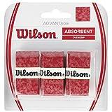 Wilson Advantage Overgrip Empuñadura, 3 unidades, unisex, rojo