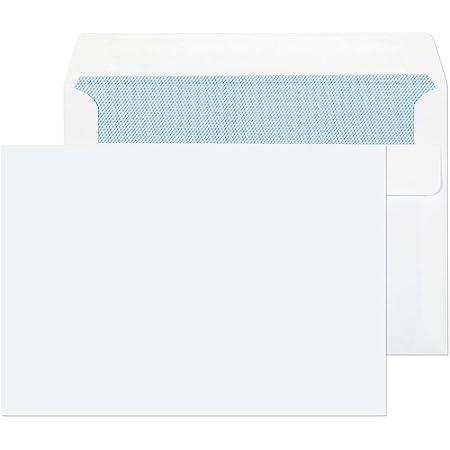 1000 Briefumschläge C6 ohne Fenster selbstklebend 114 x 162 mm weiß 75g//qm