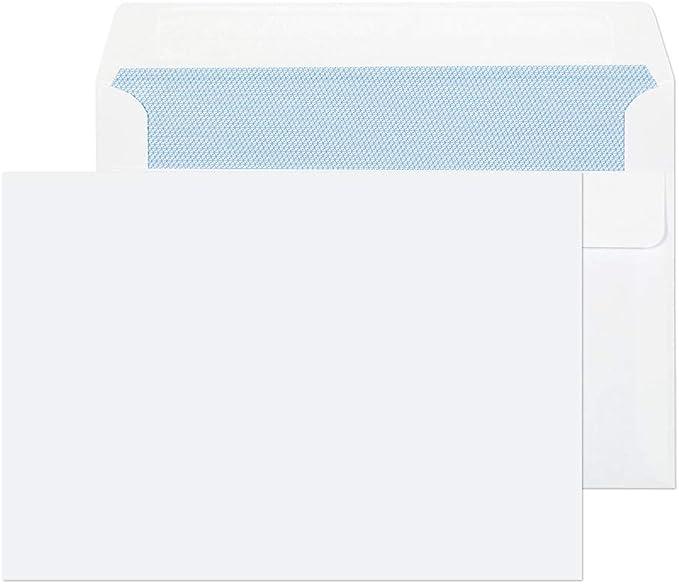 FAST DEL WHITE ENVELOPES DL C4 A4 C5 A5 C6 A6 SELF SEAL PLAIN DL STRONG LETTER