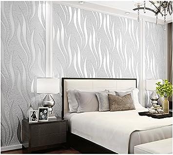 Yosot Moderne Geometrische Streifen Tapete Grun 3d Wohnzimmer Tv Hintergrundbild Hellgrau Amazon De Baumarkt