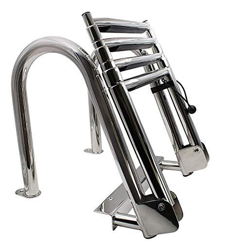 GYPPG Escalera de baño telescópica, Escalera de 4 peldaños a la Piscina,...