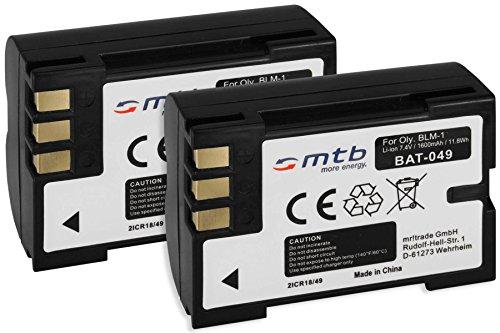 2x Batterie BLM-1 per Olympus Camedia E-1, E-300, E-330, E-500, E-510, C-5060, C-7070, C-8080