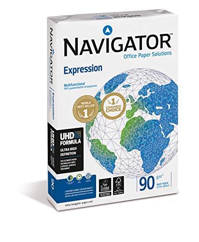 NAVIGATOR Expression - Paquete de 500 folios de papel de oficina 90 g/m² A3, color blanco