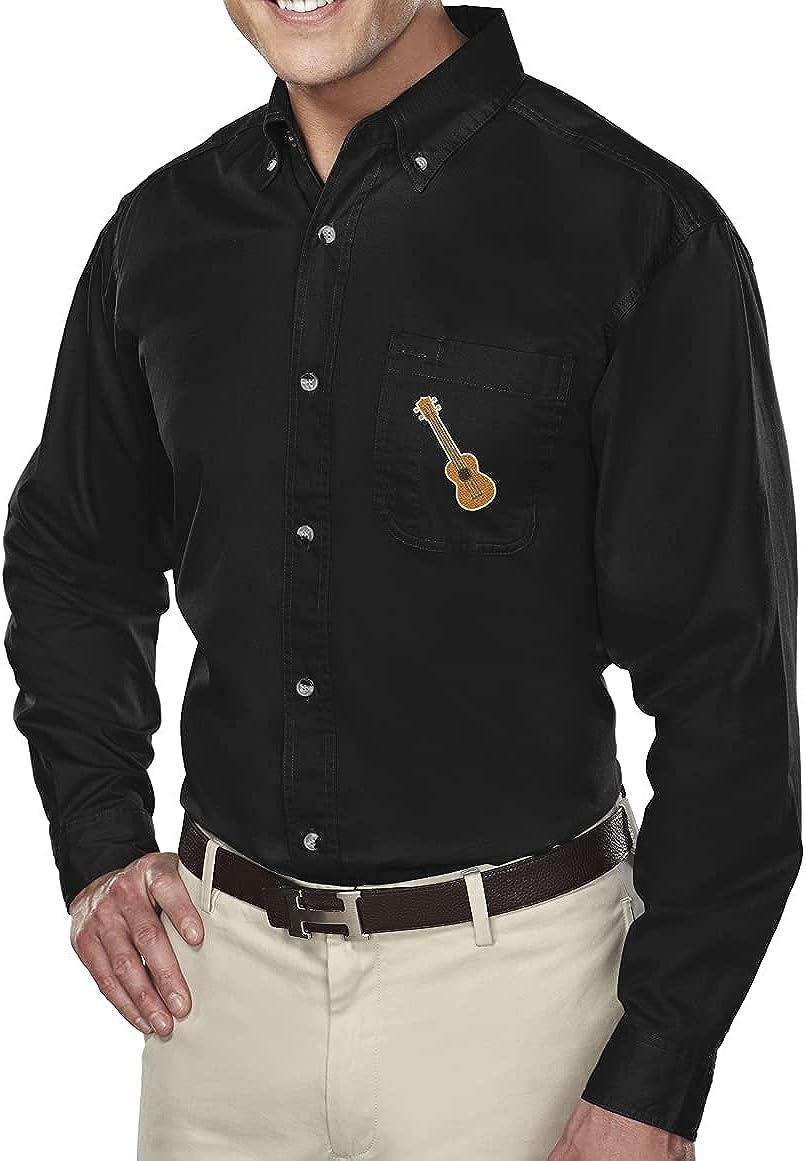 Buy Cool Shirts Ukulele UKE Patch Dress Shirt with Pocket - Regular, Big and Tall Sizes