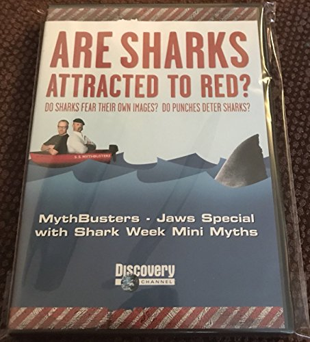 ARE SHARKS ATTRACTED TO RED? DO SHARKS FEAR THEIR OWN IMAGES? DO PUNCHES DETER SHARKS? MYTHBUSTERS JAWS SPECIAL WITH SHARK WEEK MINI MYTHS DISCOVERY