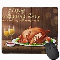現実的な幸せな感謝祭 マウスパッド25cm*30cm大判 ノンスリップ 防水 ゲーミング おしゃれ マウスの精密度を上がる