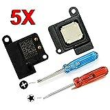 MMOBIEL Lot de 5 Haut-Parleurs Interne (appels vocaux) de Rechange Compatible avec iPhone 5 + Kit d'Outils Inclus
