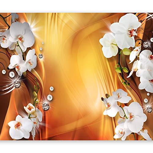 murando Papier peint intissé 300x210 cm Décoration Murale XXL Poster Tableaux Muraux Tapisserie Photo Trompe l'oeil fleurs orchidées abstraction b-A-0223-a-c