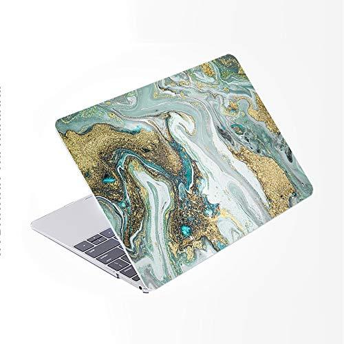 SDH Funda rígida para MacBook Air de 13 pulgadas, modelo A2337/A1932/A2179 con pantalla Retina compatible con Touch ID, figura de mármol 13