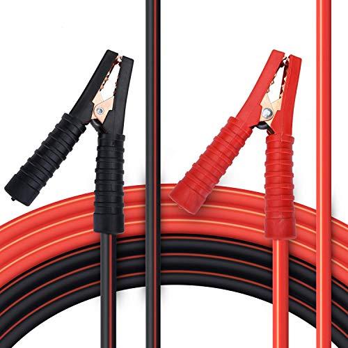 Goture Starthilfekabel für Benzin- und Dieselmotoren, 6/12/24 Volt. Überbrückungskabel aus Kupfer 2 x 6 m inkl. Handschuhe (25mm² 1200A / 30mm² 1500A)