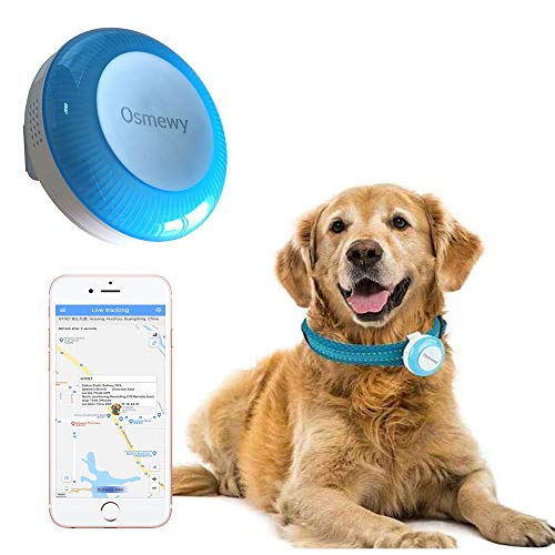 Osmewy Pet Tracker Hund GPS Tracker Dog Tracking Gerät für Hunde Bigger Katzen Cat Dog GPS Locator Lichtsuche Anti-Lost Geo Zaun Historische Route Echtzeit Alarm GT025