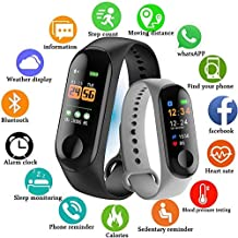 Intelligent M3 Intelligence Bluetooth Smart Watch/Smart Bracelet/Health Band/Activity Tracker/Bracelet/Fitness Band/M3 Band/with Heart Rate Sensor Compatible for All Androids and iOS Phone/Tablet