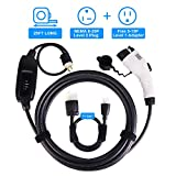 BougeRV Level 2 EV Charger Cable (240V, 16A, 25FT) Portable EVSE Electric Vehicle Charging Station Compatible with Level 1 for Chevy Volt, BMW, Nissan Leaf, Fiat, Ford Fusion