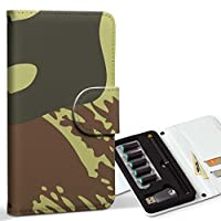 スマコレ ploom TECH プルームテック 専用 レザーケース 手帳型 タバコ ケース カバー 合皮 ケース カバー 収納 プルームケース デザイン 革 チェック・ボーダー 迷彩 カモフラ 模様 003978