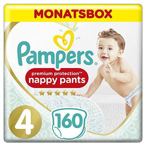 Pampers Premium Protection Pants, Gr. 4, 9kg-15kg, Monatsbox (1 x 160 Pants)