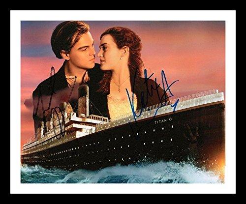 Titanic - Leonardo DiCaprio & Kate Winslet Autogramme Signiert Und Gerahmt Foto