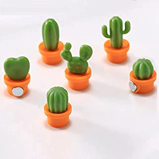 Deziine® 6pcs / Set Fridge Magnets Cute Cactus Fridge Magnets Small Cactus Succulent Plant Fridge Decorations Message Stic...