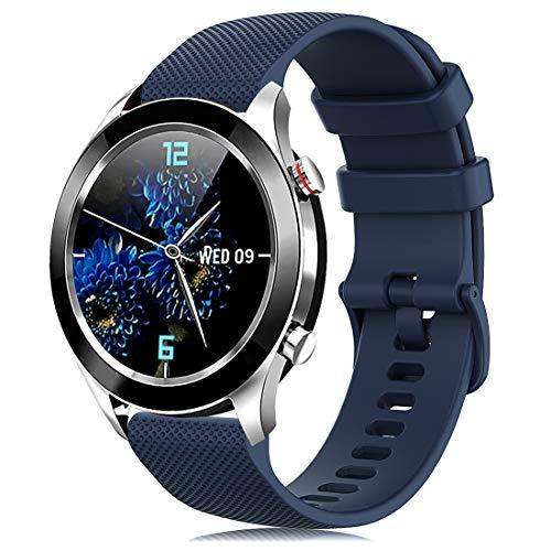 Onedream Correa Compatible para Garmin Vivoactive 4S Vivomove 3S, Pulsera de Repuesto Band Deportivo Correas del Reloj Silicona Accesorios 18mm para Hombre y Mujer, Azul Marino (Sin Reloj)