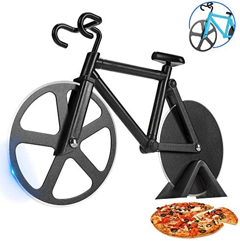 SCHVUBENR Bicycle Pizza Cutter Wheel Funny Gifts for Cyclists Men Bike Pizza Cutter Cute Kitchen product image