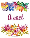 Chanel: Flower Notebook Writing Journal for Girls,Personalized With Name,  Personalized Writing Journal,Notebook for Women and Girls, Personalized Notebook/Journal Gift