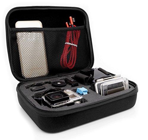 MyGadget Tragetasche [Größe M] Transport Schutz Tasche für Actionkamera und Zubehör - Portable Koffer Hülle für z.B. GoPro Hero Black 7/8 6 5 4 3+ 3 / Xiaomi Yi 4K