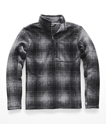 The North Face Novelty Gordon Lyons 1/4 Zip Monument Grey Ombre Plaid Print MD