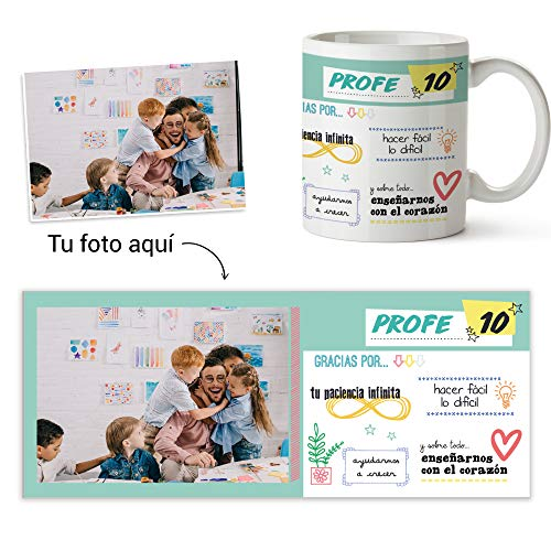 Fotoprix Taza Personalizada con Foto para Regalar a tu Profesor | Regalo...