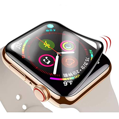 Waterproof Soft Screen Protector for Apple Watch Band 44mm Series 6 5 4 Film, Black