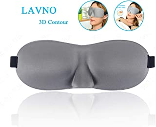 LANVO Sleep Mask for Women and Men, Upgraded 3D Contoured Eyes Mask, Super Soft and Comfortable Blindfold, Great Eye Cover for Travel, Nap and Meditation (Gray)