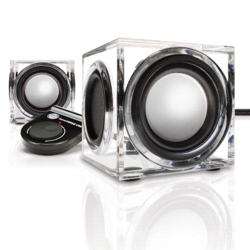 GOgroove SonaVERSE CRS 6 W Altavoz portátil estéreo Transparente - Altavoces portátiles (2.0 Canales, 3,81 cm, 2,54 cm, 6 W, 12 W, 150-20000 Hz)
