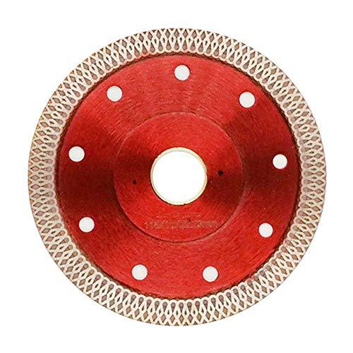 JINKEBIN Abrasivo de Saw Wave 115 mm Hoja de Diamante for la baldosa cerámica en seco de Corte Agresivo mármol Disco Piedra de Granito Hoja de Sierra, Rojo, 115mm