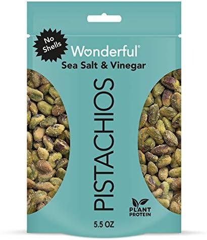 Wonderful Pistachios No Shells Sea Salt Vinegar 5 5 Ounce Bag product image