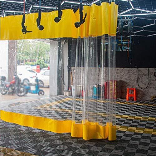 Lona alquitranada Panel Lateral de Tienda de PVC, Paneles de Valla, Cortinas Impermeables Terrazas, Lona Revestida con Costura de Lona Transparente, para Garaje, Pérgola